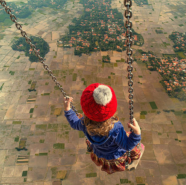 Swinging above the world